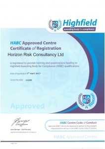 HABC Approved Centre Certificate of Registration