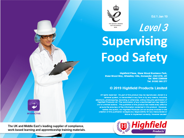 Highfield Level 3 Award in Food Safety in Catering (RQF